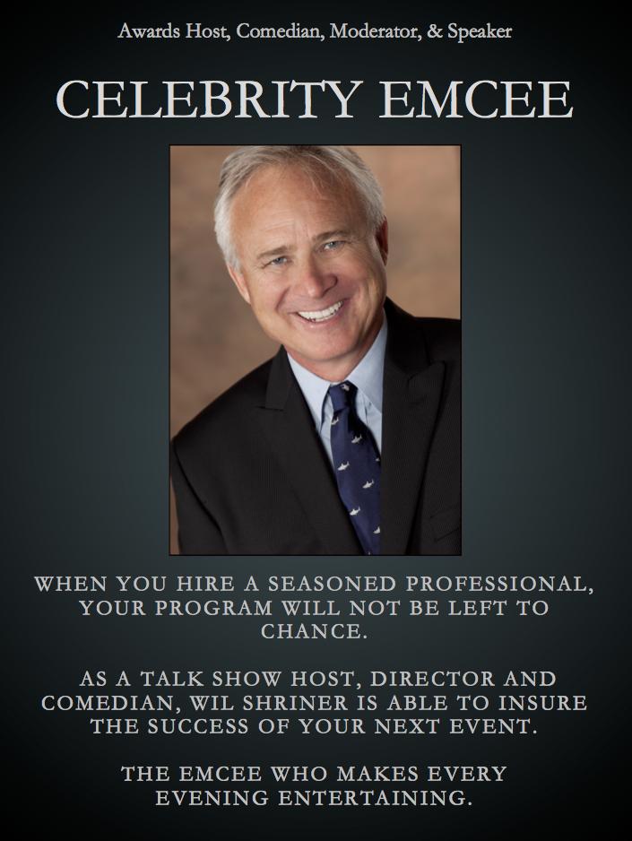 Celebrity Emcee poster